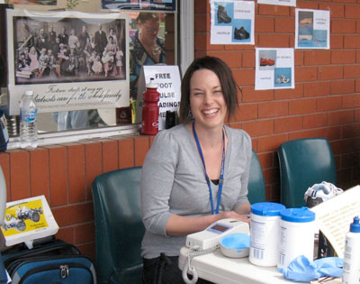Community podiatrist, Fairlie Collins at least year's community health expo and who is looking forward to this year's women's health event.