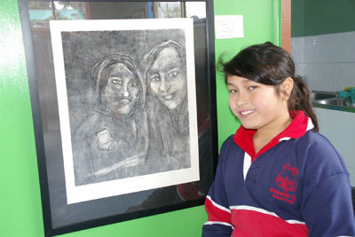 Bridgewater High grade 8 student Sophia Yani was a statewide winner with this print.