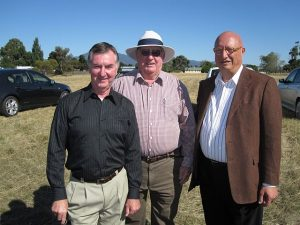 •  At the development launch from left, Mayor Tony Foster with Deputy Mayor Geoff Taylor and  Simon Touma, Director of Touma International Pty Ltd the owners of the site.