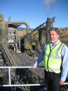 Roadways Pty Ltd managing director Phil Sidney at the company's asphalt manufacturing plant at Bridgewater.