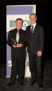 At the awards event, Mayor of Brighton Council Tony Foster with Brighton's business development manager Robert Higgins.