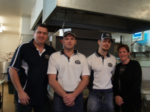 Best Bakehouse owners Scott left, and Natasha Donaghy, right, with bakers Jason Mizzen and Darren Boucher.