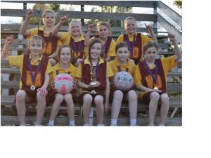 Brighton Primary School grade three/four Maroon netball team topped the ladder with an incredible 14 wins from 14 games.