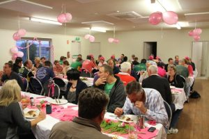 The Old Beach Cricket Club beautifully decorated in pink for the McGrath foundation Stumps Day.