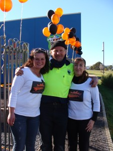 From left, Tennille Murtagh, Community Blitz coordinator Peter Griffiths and Natilea Lovell